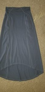 Athleta hi low maxi skirt grey size xs